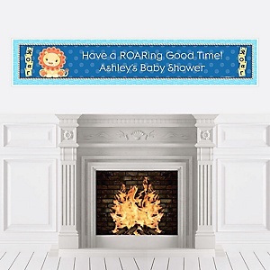 Lion Boy - Personalized Baby Shower Banners