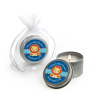 Lion Boy - Candle Tin Personalized Baby Shower Favors