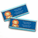 Lion Boy - Personalized Baby Shower Candy Bar Wrapper Favors