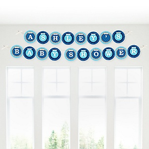 Lion Boy - Personalized Baby Shower Garland Letter Banners