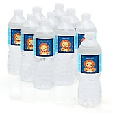 Lion Boy - Personalized Party Water Bottle Sticker Labels - Set of 10
