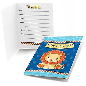 Lion Boy - Fill In Invitations - 8 ct