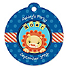 Lion - Round Personalized Party Tags - 20 ct