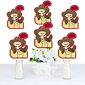 Little Cowboy - Decorations DIY Western Baby Shower or Birthday Party Essentials - Set of 20