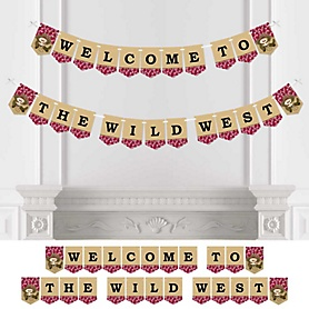 Little Cowboy - Western Baby Shower or Birthday Party Bunting Banner - Party Decorations - Welcome to the Wild West