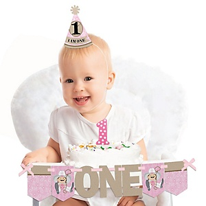 Little Cowgirl 1st Birthday - First Birthday Girl Smash Cake Decorating Kit - High Chair Decorations