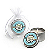 Dashing Little Man Mustache Party - Personalized Baby Shower Candle Tin Favors - Set of 12