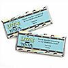 Dashing Little Man Mustache Party - Personalized Candy Bar Wrappers Baby Shower Favors - Set of 24