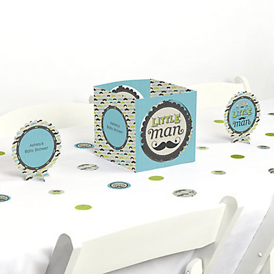 Dashing Little Man Baby Shower Table Decorating Kit