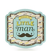 Dashing Little Man Mustache Party - Baby Shower Dessert Plates - 8 ct
