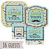 Dashing Little Man Mustache Party - Birthday Party 16 Big Dot Bundle