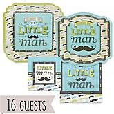 Dashing Little Man Mustache Party - Baby Shower 16 Big Dot Bundle