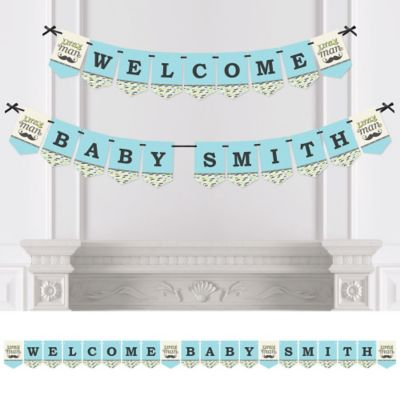 Dashing Little Man Mustache Party   Personalized Party Bunting Banner U0026  Decorations