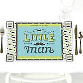 Dashing Little Man Mustache Party - Personalized Baby Shower Placemats