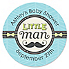Dashing Little Man Mustache Party - Personalized Baby Shower Sticker Labels - 24 ct