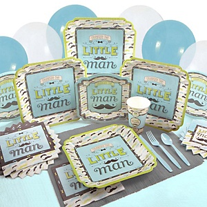 Dashing Little Man Mustache Party - Baby Shower Tableware