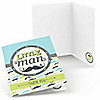 Dashing Little Man Mustache Party - Birthday Party Thank You Cards - 8 ct