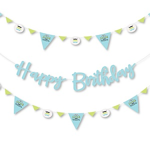 Dashing Little Man Mustache Party - Birthday Party Letter Banner Decoration - 36 Banner Cutouts and Happy Birthday Banner Letters