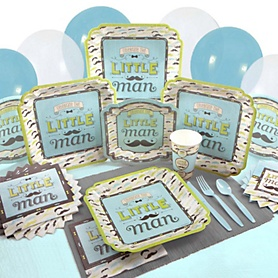 Dashing Little Man Mustache Party - Birthday Party Tableware