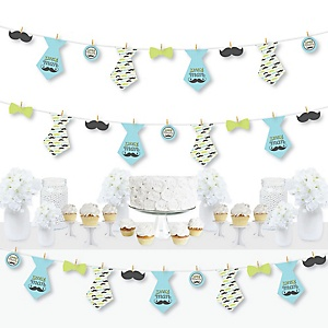 Dashing Little Man Mustache Party - Baby Shower or Birthday Party DIY Decorations - Clothespin Garland Banner - 44 Pieces