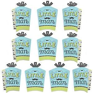 Dashing Little Man Mustache Party - Table Decorations - Baby Shower or Birthday Party Fold and Flare Centerpieces - 10 Count