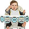 Dashing Little Man Mustache Party 1st Birthday - I am One - First Birthday High Chair Banner