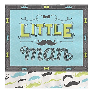 Dashing Little Man Mustache Party - Baby Shower Luncheon Napkins - 16 ct