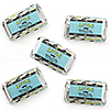 Dashing Little Man Mustache Party - Mini Candy Bar Wrapper Stickers - Baby Shower or Birthday Party Small Favors - 40 Count