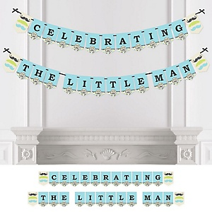 Dashing Little Man Mustache Party - Baby Shower or Birthday Party Bunting Banner - Party Decorations - Celebrating the Little Man