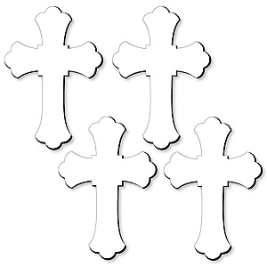 Cross Foam Board - Shaped DIY Craft Supplies for Resin and Painting - Religious Blank Foam Board - 4 Piece