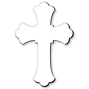 Cross Foam Board - Shaped DIY Craft Supplies for Resin and Painting - Religious Blank Foam Board - 1 Piece