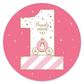 1st Birthday Little Princess Crown - First Birthday Party Theme