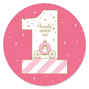 1st Birthday Little Princess Crown - First Birthday Party Theme