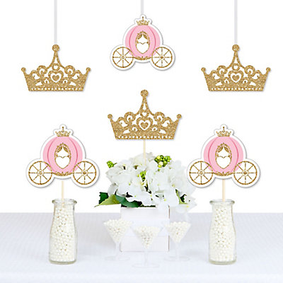 Little Princess Crown Decorations Diy Pink And Gold Princess Baby