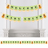 Little Pumpkin African American - Personalized Baby Shower Bunting Banner