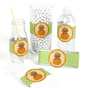 Little Pumpkin African American - DIY Party Wrappers - 15 ct