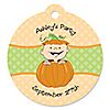 Little Pumpkin - Round Personalized Party Tags - 20 ct