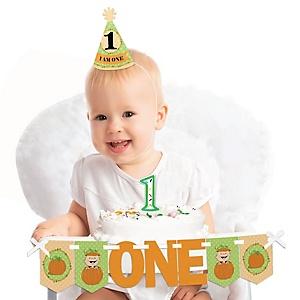 Little Pumpkin 1st Birthday - First Birthday Boy or Girl Smash Cake Decorating Kit - High Chair Decorations