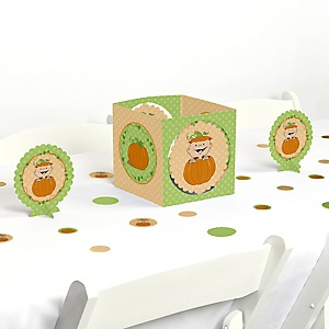 Little Pumpkin - Fall Baby Shower or Birthday Party Centerpiece and Table Decoration Kit