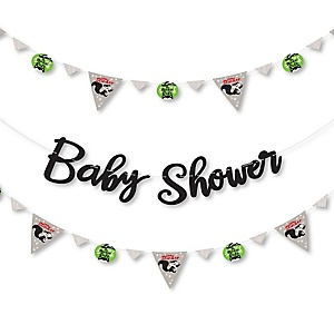 Little Stinker - Woodland Skunk - Baby Shower Letter Banner Decoration - 36 Banner Cutouts and Baby Shower Banner Letters