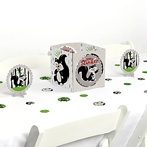 Little Stinker - Woodland Skunk Baby Shower or Birthday Party Centerpiece & Table Decoration Kit