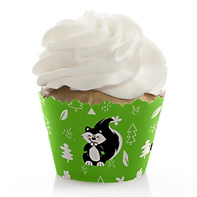 Little Stinker - Woodland Skunk Baby Shower or Birthday Party Decorations - Party Cupcake Wrappers - Set of 12