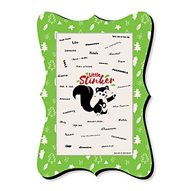 Little Stinker - Woodland Skunk - Unique Alternative Guest Book - Baby Shower or Birthday Party Signature Mat