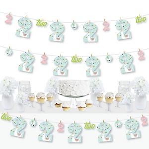 2nd Birthday Whole Llama Fun - Llama Fiesta Second Birthday Party DIY Decorations - Clothespin Garland Banner - 44 Pieces