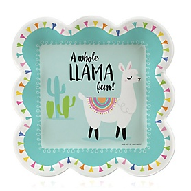 Whole Llama Fun - Llama Fiesta Baby Shower or Birthday Party Dessert Plates  - 16 ct