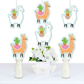 Whole Llama Fun - Decorations DIY Llama Fiesta Baby Shower or Birthday Party Essentials - Set of 20
