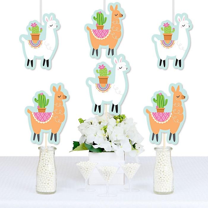 Whole Llama Fun - Decorations DIY Llama Fiesta Baby Shower or Birthday Party Essentials - Set of 20