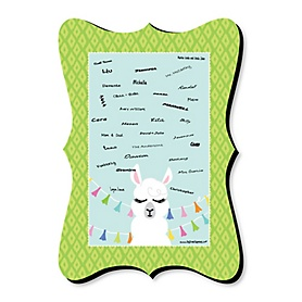 Whole Llama Fun - Unique Alternative Guest Book - Llama Fiesta Baby Shower or Birthday Party Signature Mat