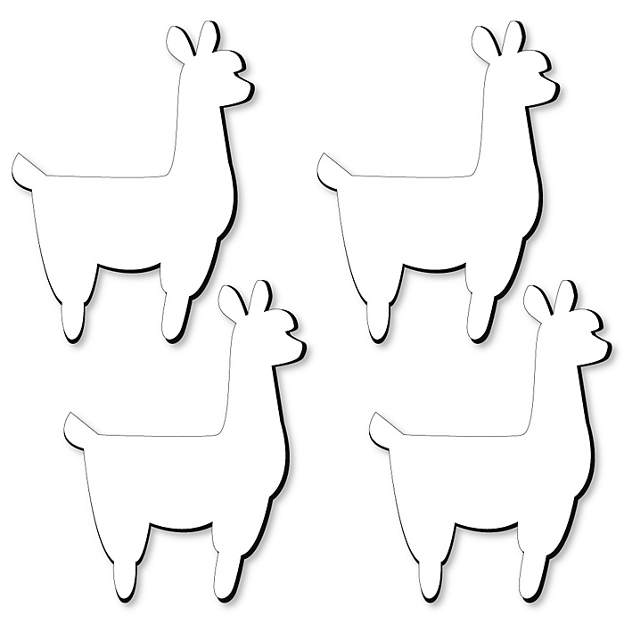 Llama Foam Board - Shaped DIY Craft Supplies for Resin and Painting - Blank Foam Board - 4 Piece