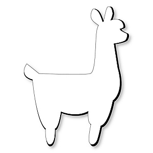 Llama Foam Board - Shaped DIY Craft Supplies for Resin and Painting - Blank Foam Board - 1 Piece